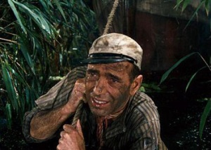 Humphrey Bogart demonstrates the art of revising a novel in The African Queen